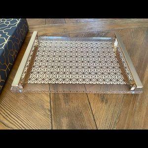 Rose gold filigree tray